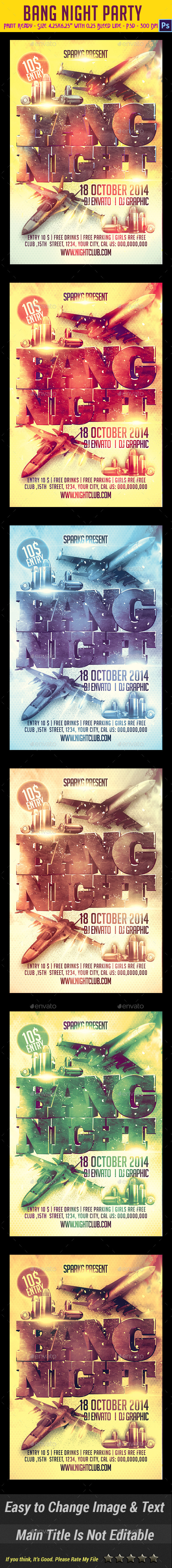 Bang Night Party Flyer - Clubs & Parties Events