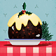 Christmas Pudding Flyer or Card Illustration - GraphicRiver Item for Sale