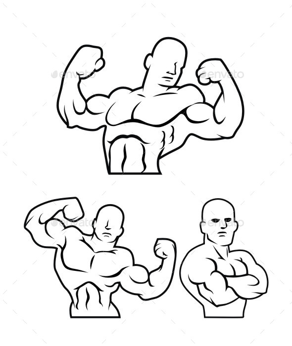 Body Builder Silhouette - Sports/Activity Conceptual