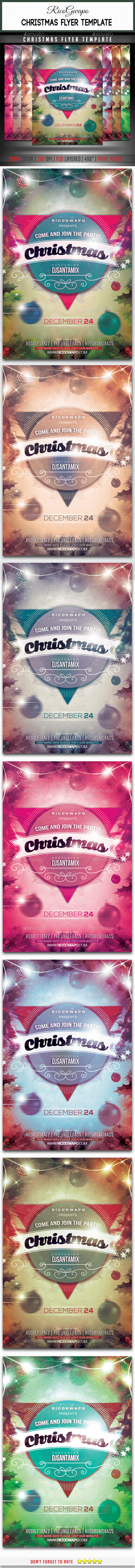 Christmas Flyer Template - Flyers Print Templates