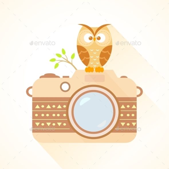 Camera and Owl - Miscellaneous Vectors