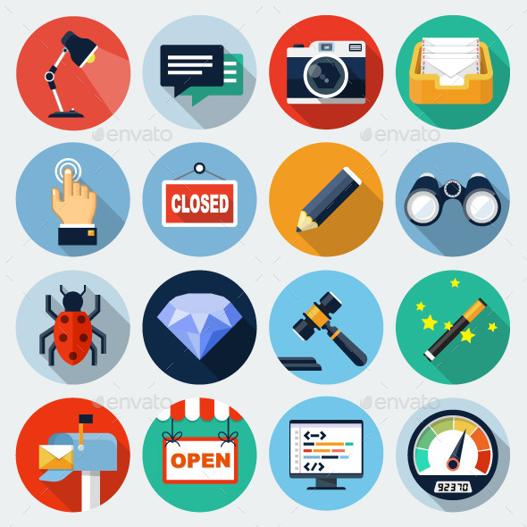 Flaturici Set 8 - Web Icons