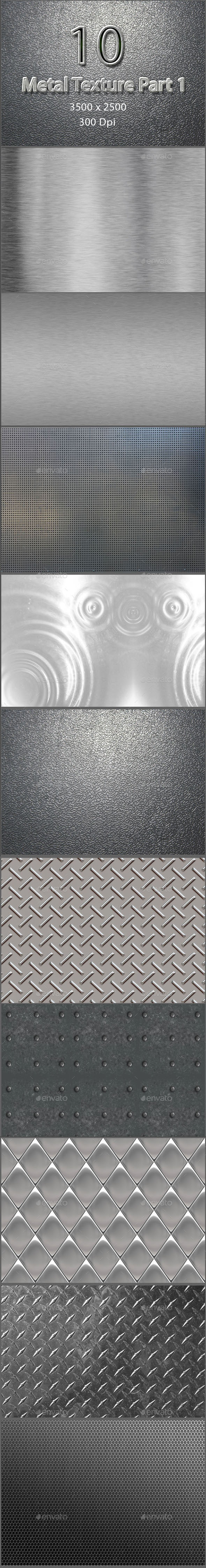 10 Metal Texture Part 1 - Metal Textures