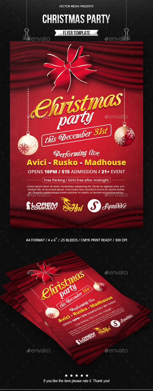Christmas Party - Flyer - Holidays Events