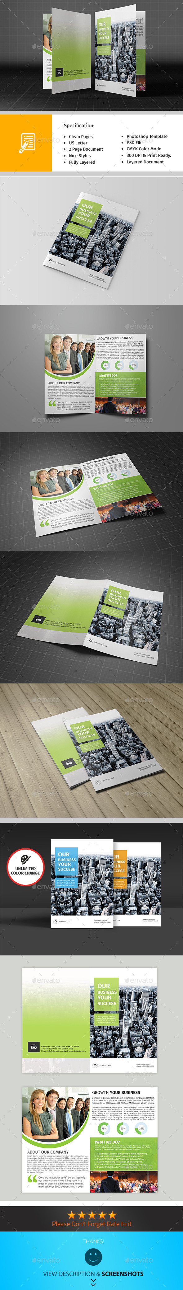Bifold Corporate Brochure Template Vol01 - Corporate Brochures