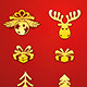 Christmas Golden Decorative Elements Set  - GraphicRiver Item for Sale