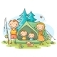 Family Camping - GraphicRiver Item for Sale