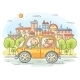 Happy Family Travelling by Car - GraphicRiver Item for Sale