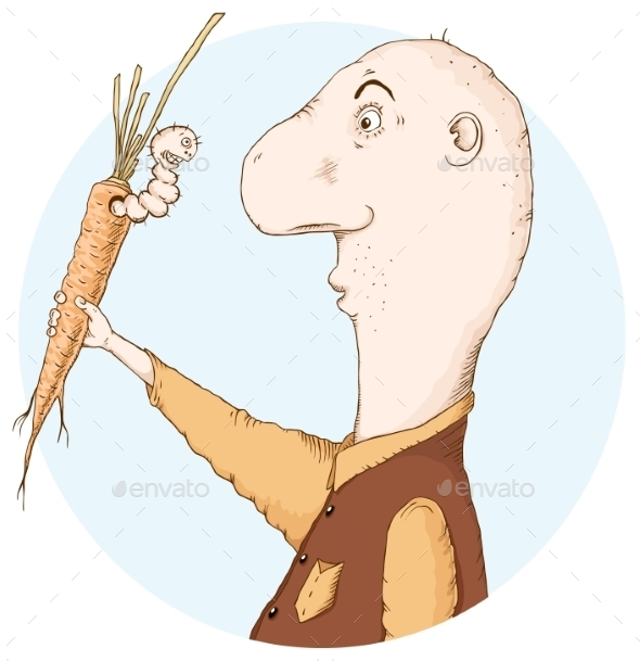 Worm in a Carrot - People Characters