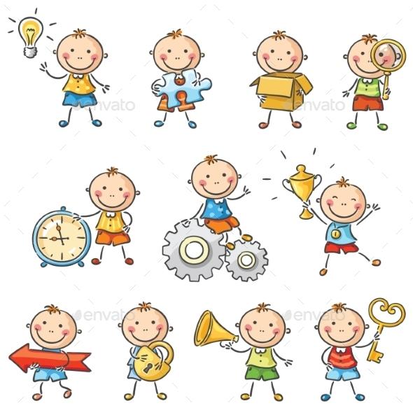 Cartoon Boys - Conceptual Vectors
