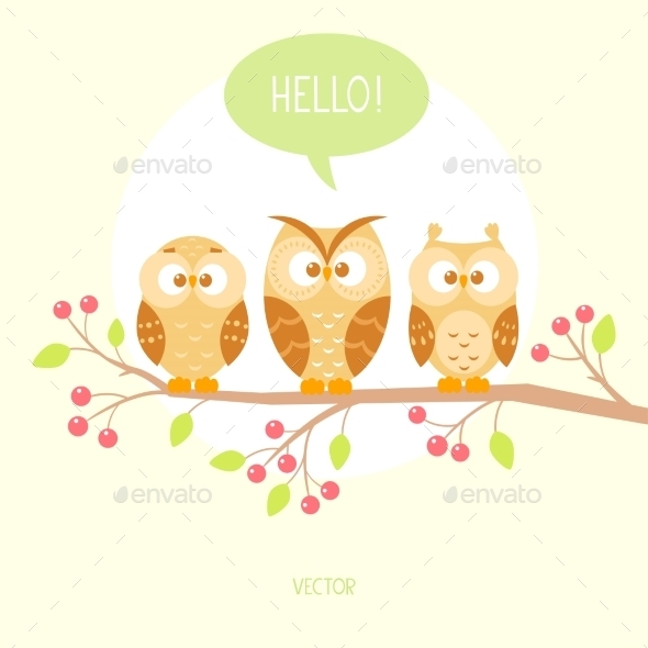 Three Owls - Animals Characters