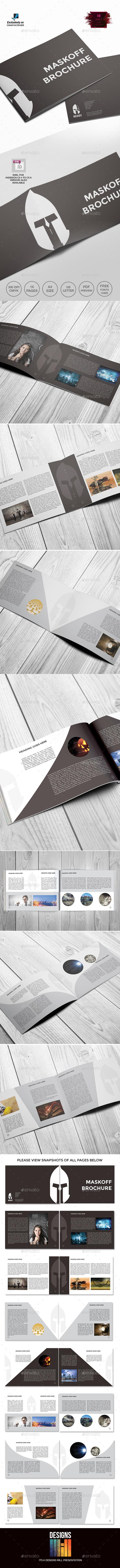 Maskoff Landscape Brochure Template - Informational Brochures