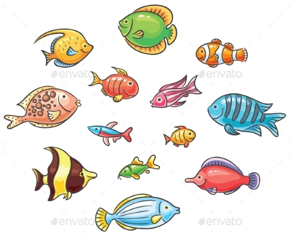 Tropical Fishes - Animals Characters
