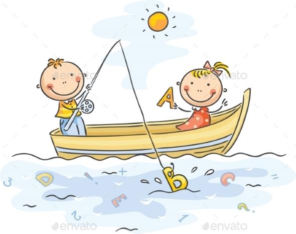 Kids Fishing - Sports/Activity Conceptual
