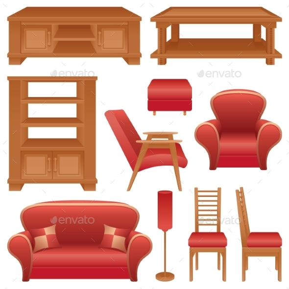Furniture - Objects Vectors