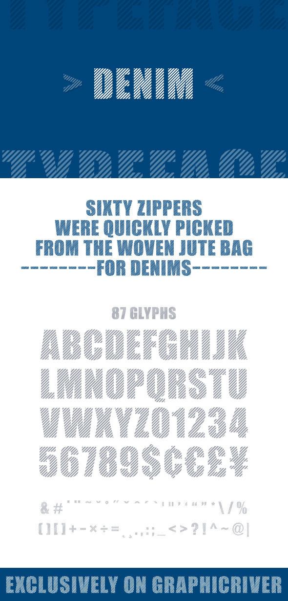 Denim Font - Decorative Fonts