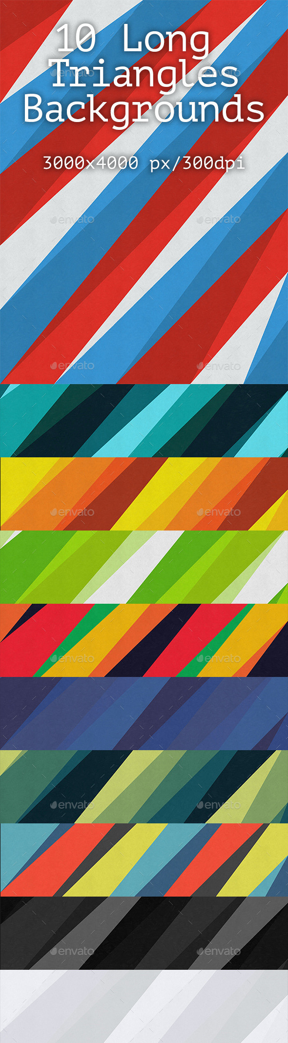 10 Long Triangles Backgrounds - Abstract Backgrounds