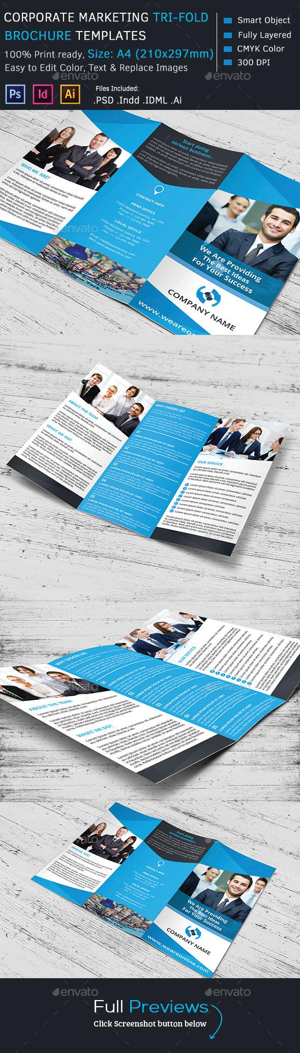 Corporate Marketing Tri-Fold Brochure - Corporate Brochures