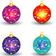 Abstract Multiple Christmas Balls Set  - GraphicRiver Item for Sale