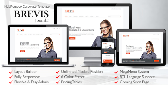 Brevis MultiPurpose Corporate Joomla Template - Business Corporate