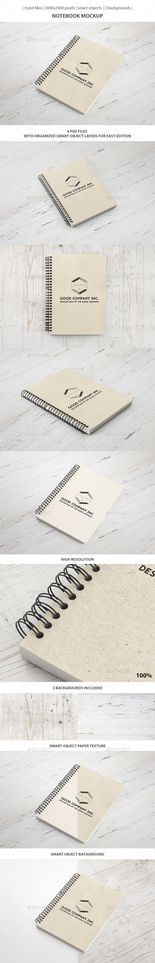 Notebook Mockup - Stationery Print