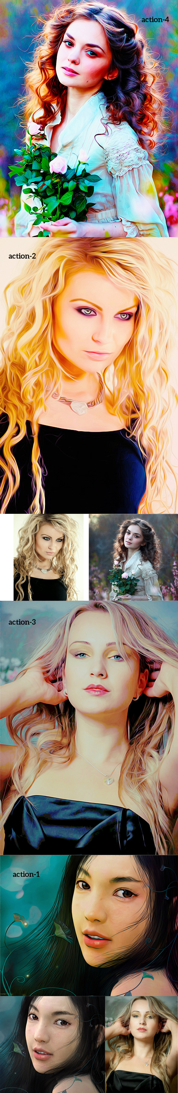 Colorfull Oil Art Action - Photo Effects Actions