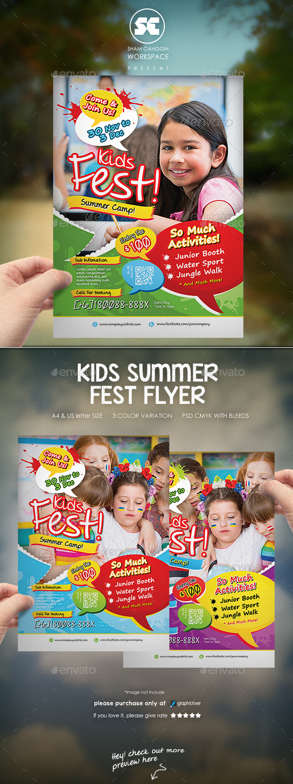 Kids Summer Fest Flyer - Miscellaneous Events
