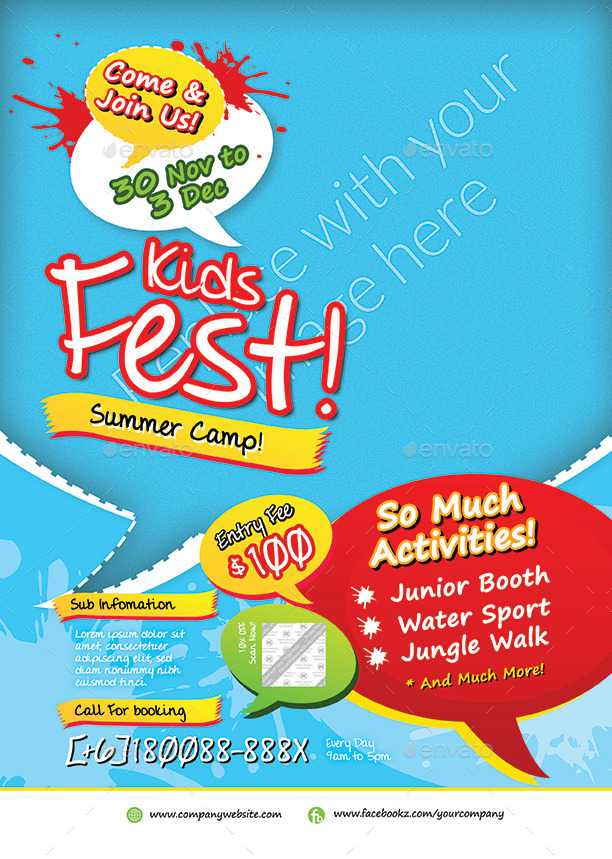 Kids Summer Fest Flyer
