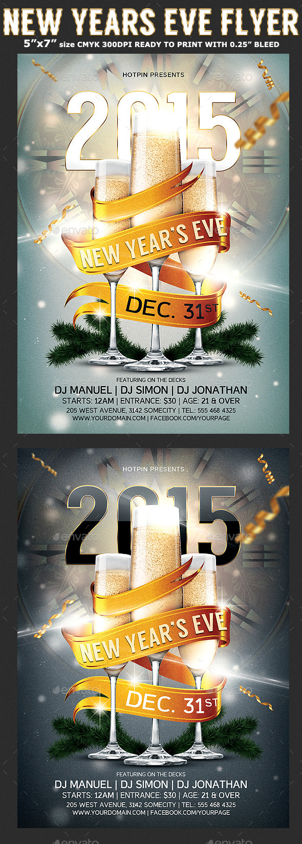 New Year Party Flyer Template - Holidays Events