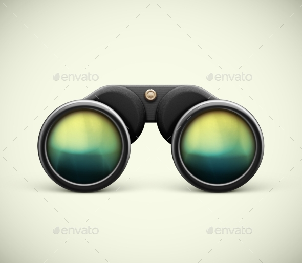 Isolated Binoculars - Man-made Objects Objects