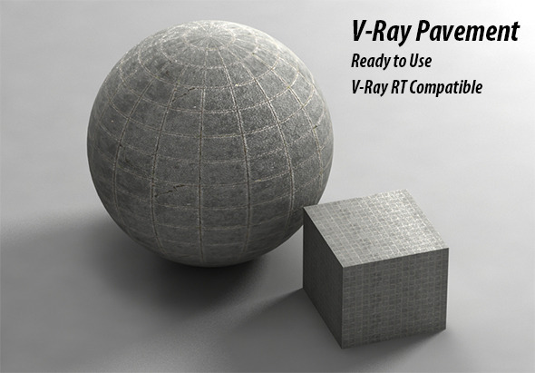 V-Ray Pavement Material - 3DOcean Item for Sale