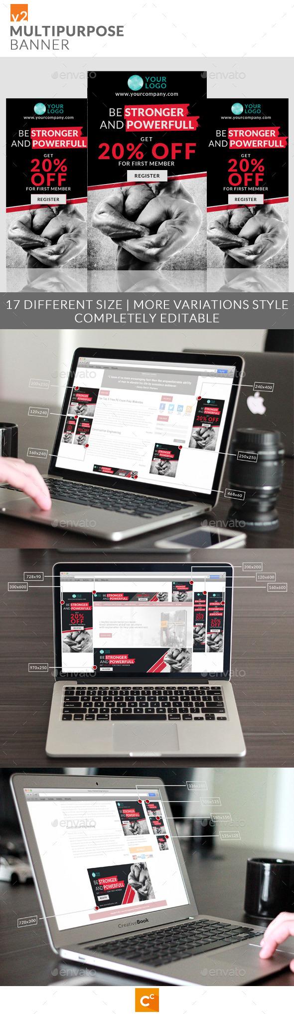 Multipurpose Banner Ads v2 - Banners & Ads Web Elements