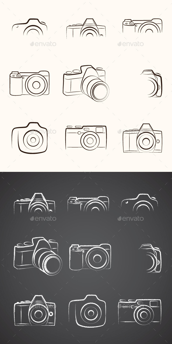 Camera Outline - Decorative Symbols Decorative