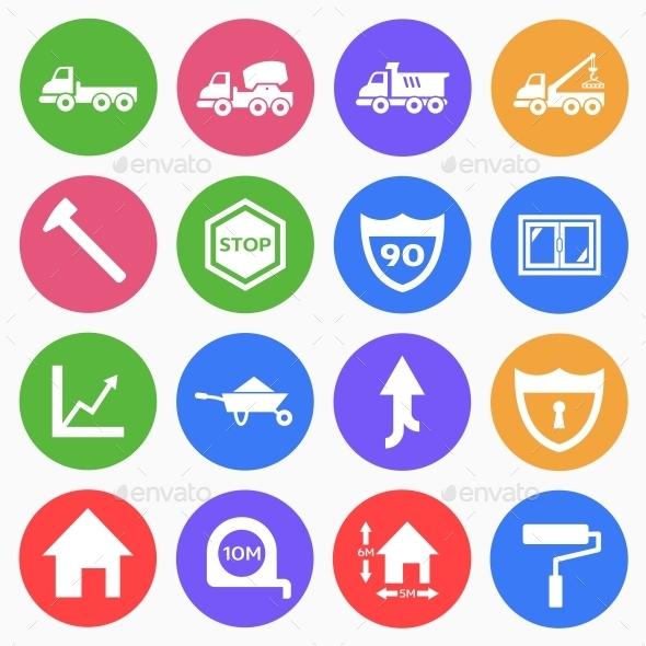 Construction Flat Icons (2) - Web Icons