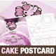 Cake and Cupcake Business Postcard Template - GraphicRiver Item for Sale