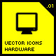 Vector Icons Hardware .01 - GraphicRiver Item for Sale