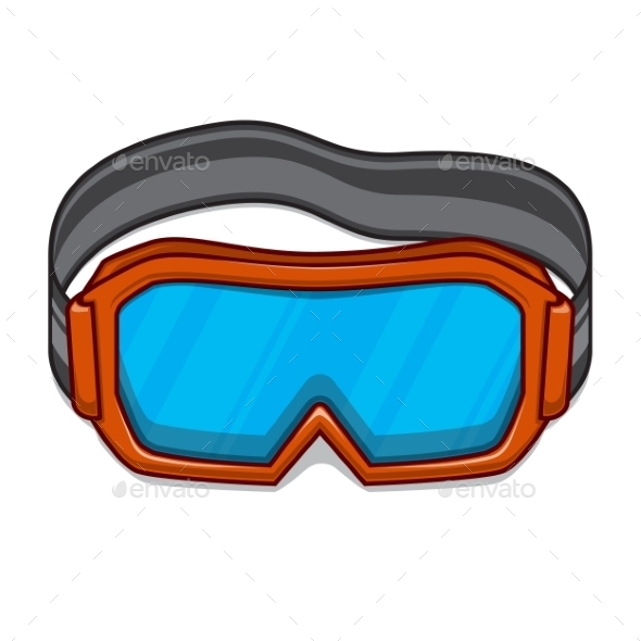 Snowboard Ski Goggles - Sports/Activity Conceptual
