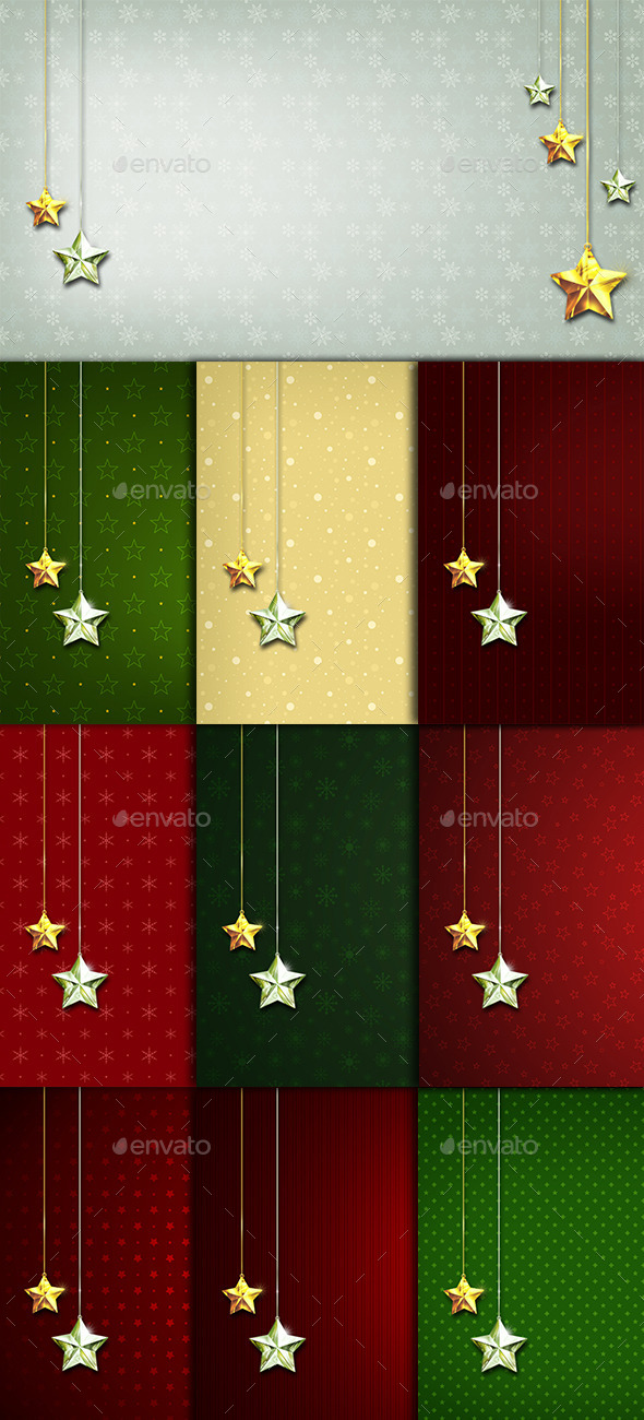 10 Stars Ornaments Backgrounds - Miscellaneous Backgrounds