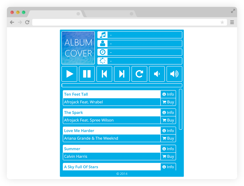 Simple Metro Music Player