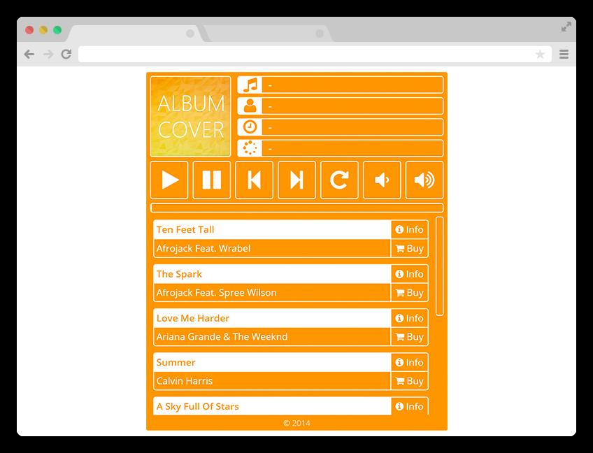 Simple Metro Music Player