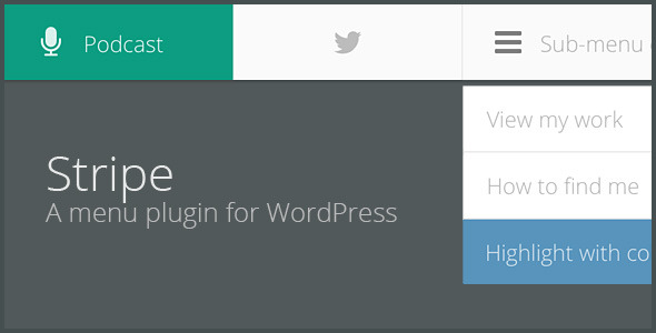 STRIPE - A lightweight menu plugin for WordPress - CodeCanyon Item for Sale