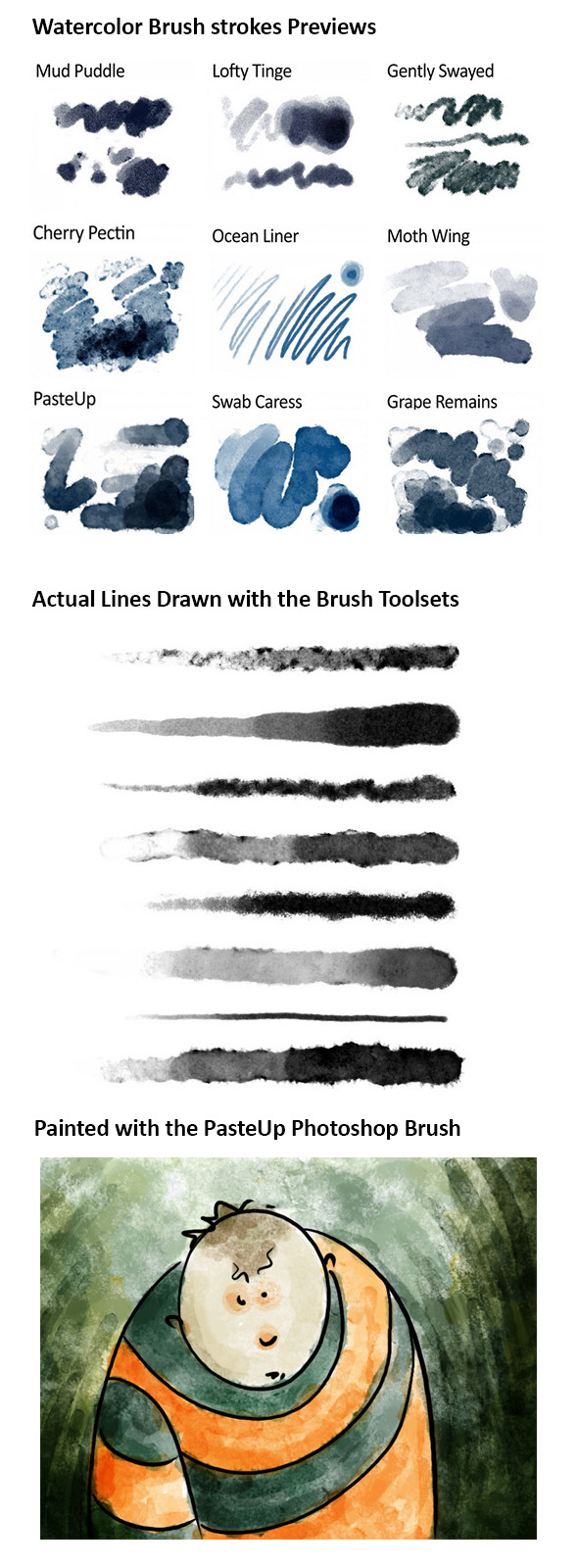 Realistic Responsive Watercolor Brushes - Brushes Photoshop