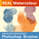 Realistic Responsive Watercolor Brushes - GraphicRiver Item for Sale