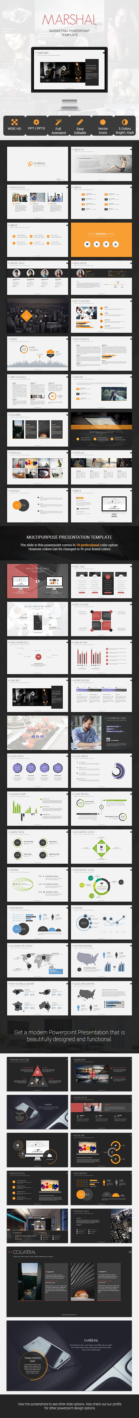 Marshal Marketing Presentation Template by SimpleSmart | GraphicRiver
