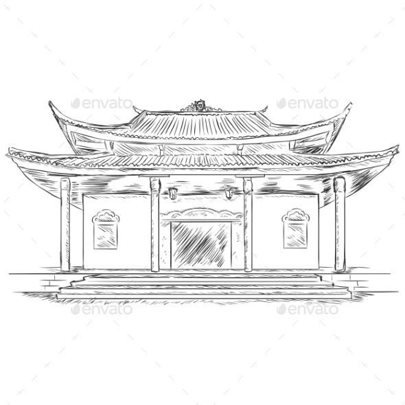 Buddist Pagoda - Religion Conceptual