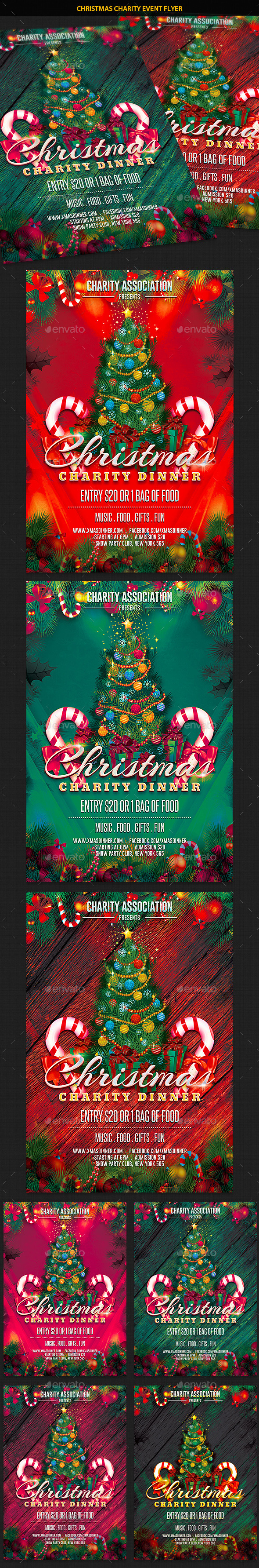 Christmas Charity Event Party Flyer - Holidays Events