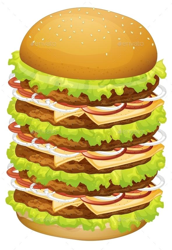 Big Pile of Hamburger - Food Objects