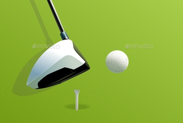 Putting Golf - Sports/Activity Conceptual