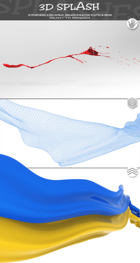 HD Water Paint Liquid Splash 15 - 3DOcean Item for Sale