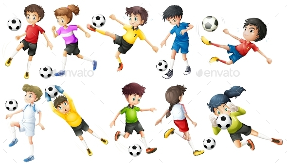 Soccer Players - People Characters
